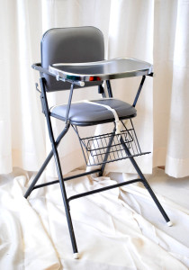 Stainless Padded High Chair with Tray