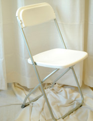 White Folding Chair with Aluminum Frame
